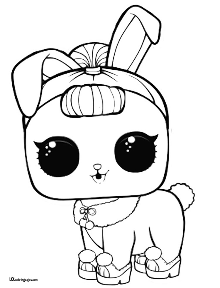 750x980 Crystal Bunny Coloring Page Lol Surprise Doll Coloring Pages