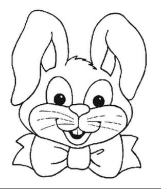 313x368 Easter Bunny Head Coloring Pages