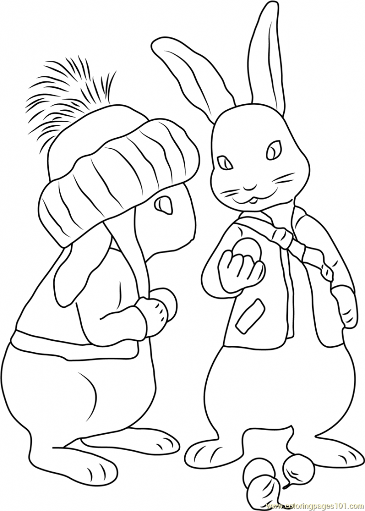 733x1024 Free Printable Peter Rabbit Coloring Pages