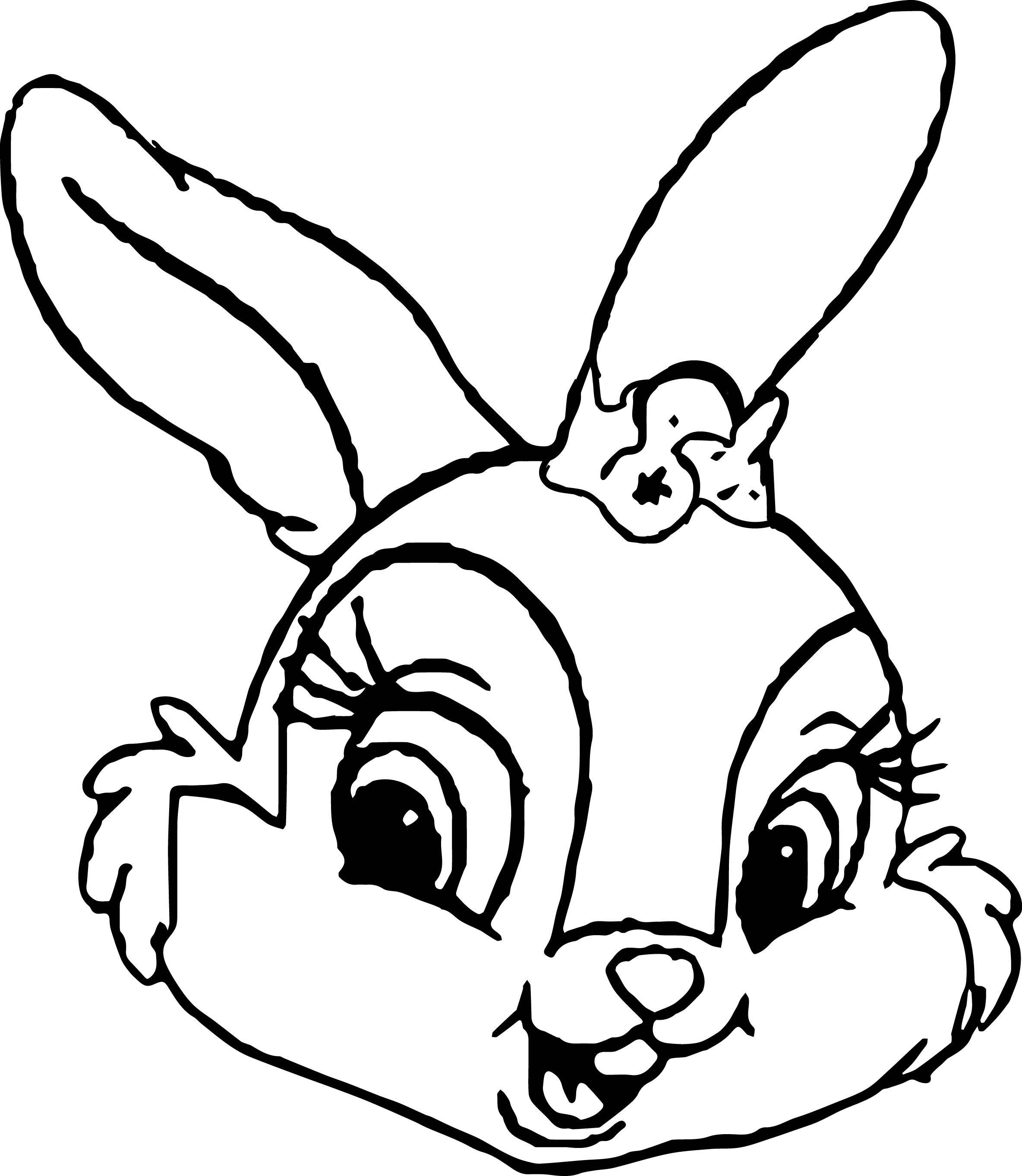 2368x2725 Shocking Thumpers Sisters And Miss Bunny Face Coloring Pages