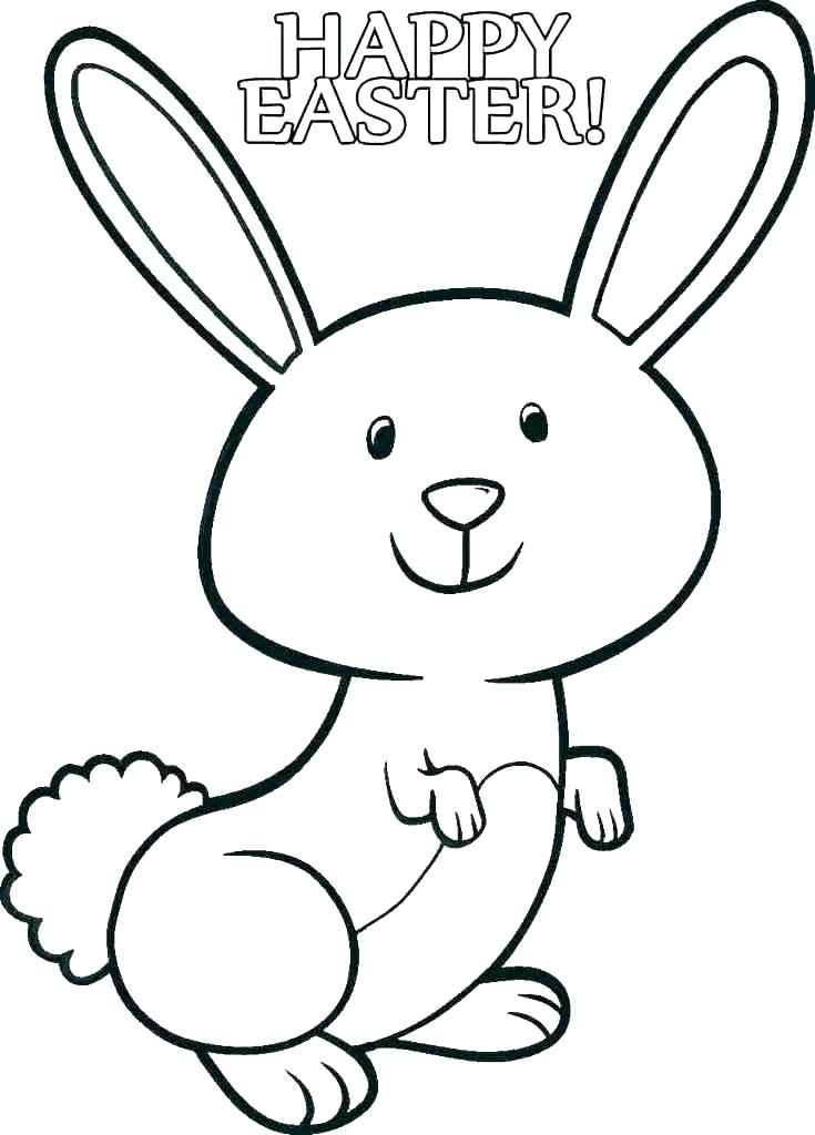 735x1024 Coloring Pages Free Printable Bunny Rabbit Coloring Page Free