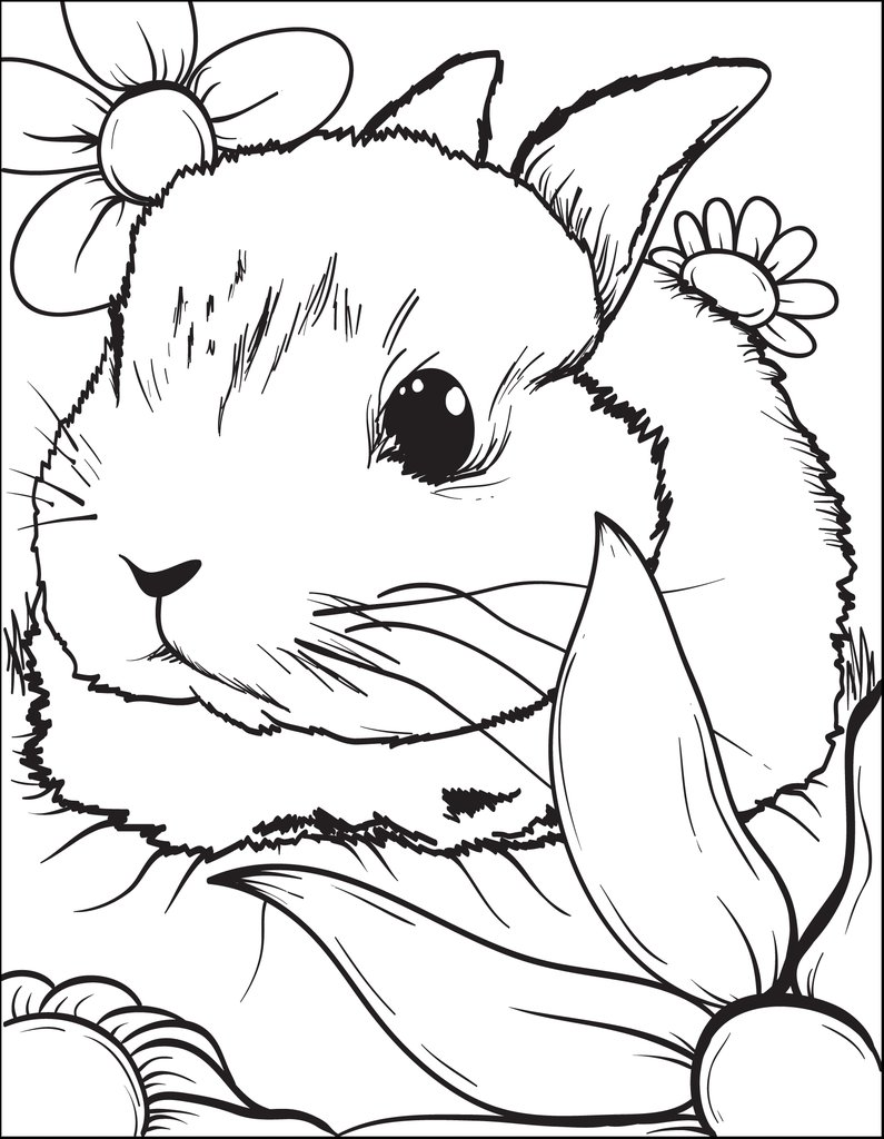 795x1024 Free, Printable Bunny Rabbit Coloring Page For Kids