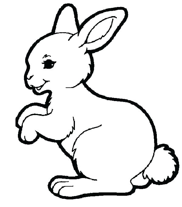 600x680 Bunny Rabbit Coloring Page Coloring Pages Of Bunnies Rabbits