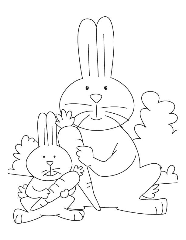 612x792 Carrot Coloring Page Rabbit Carrots Coloring Pages Rabbit And Kit