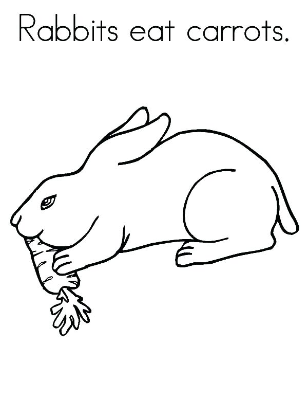 600x776 Carrot Coloring Page Rabbit Eat Carrot Coloring Pages Cute Carrot