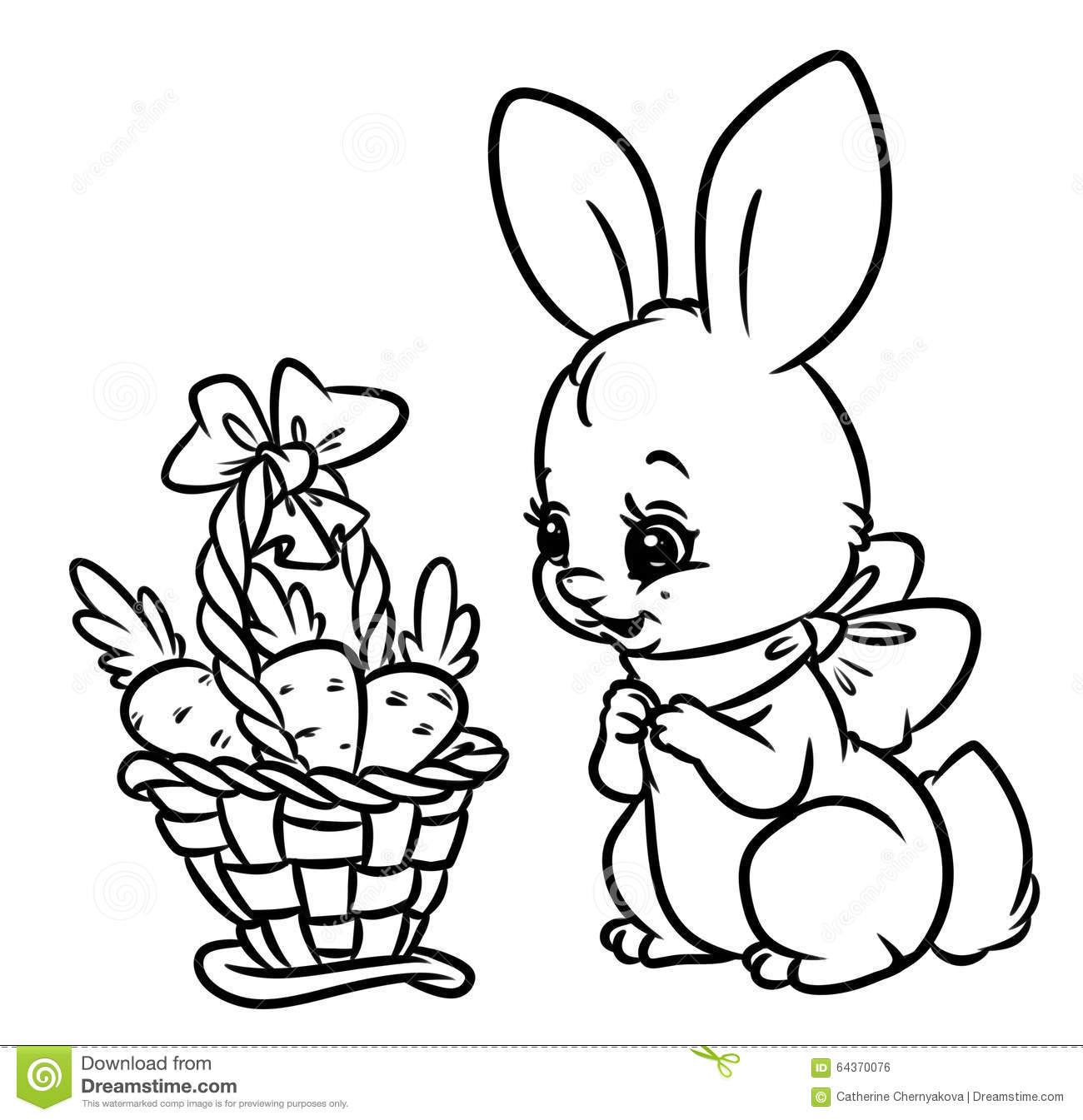 1300x1345 Best Bunny With Carrot Coloring Pages Color Bros