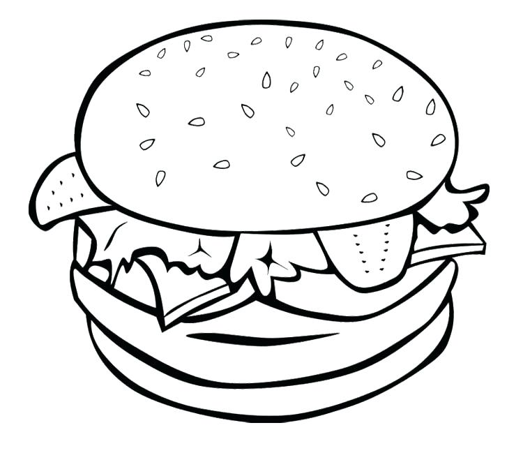 750x649 Fast Food Coloring Pages Junk Food Coloring Pages Junk Food Burger