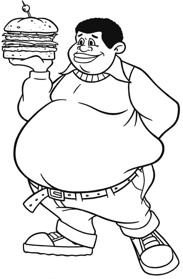 600x914 Fat Albert Boy Bring Big Burger Coloring Pages