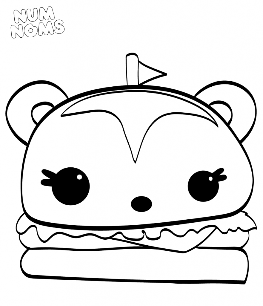 881x1024 Free Printable Num Noms Coloring Pages