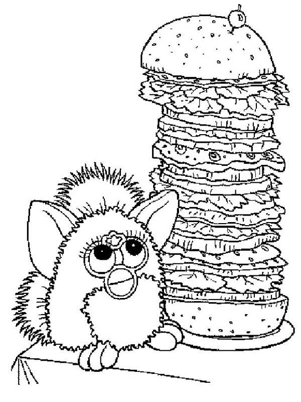 600x800 Furby And Giant Burger Coloring Pages Batch Coloring