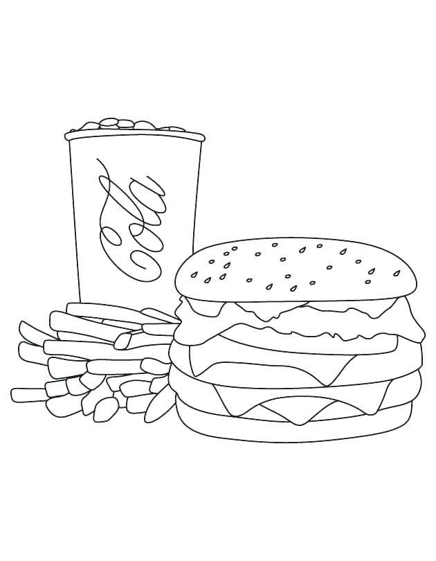 630x810 Mcdonalds Coloring Pages French Fries Coloring Page Cola Fries