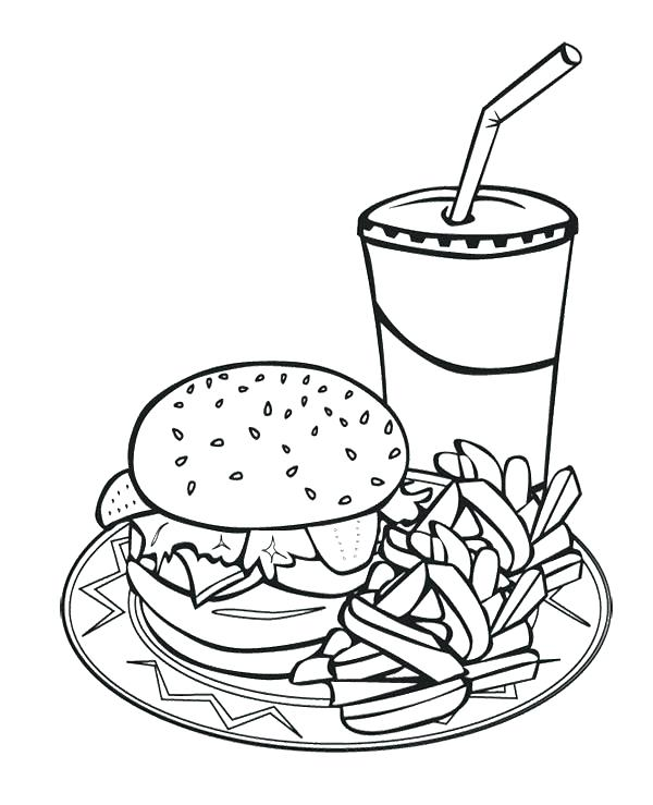 600x739 Mcdonalds Coloring Pages French Fries Coloring Page Printable Junk