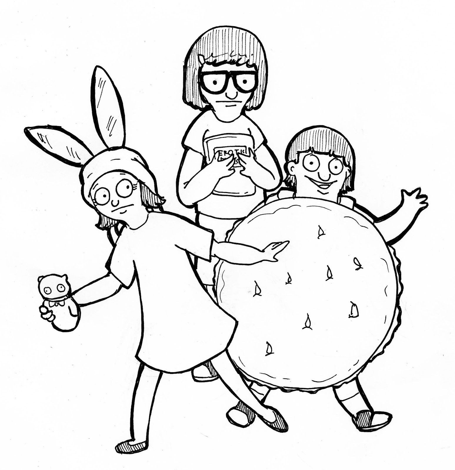 1547x1600 Spirit Coloring Pages Fresh Bobs Burgers Coloring Pages Google