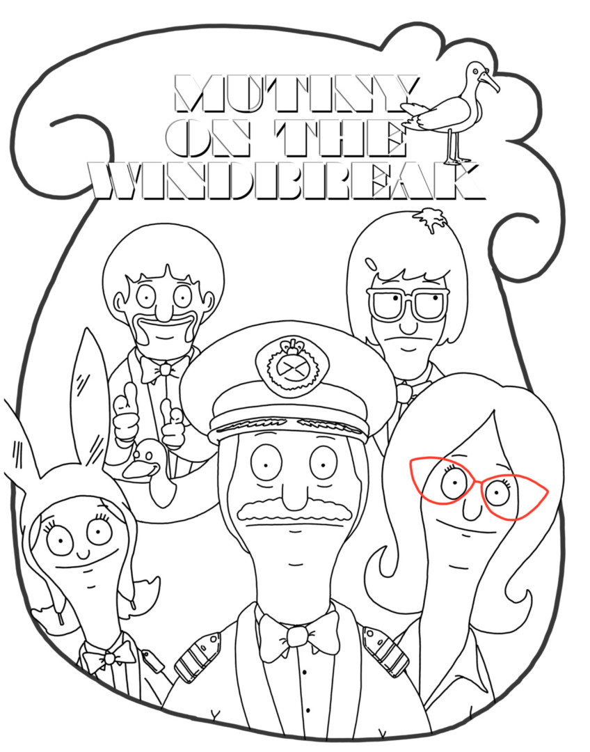 848x1080 Bobs Burgers Coloring Pages Just Colorings