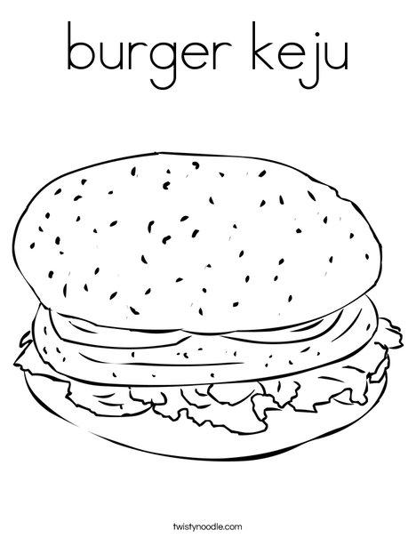 468x605 Burger Keju Coloring Page