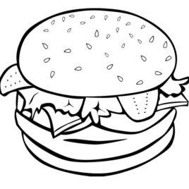 268x268 Burger Coloring Page Color Bros