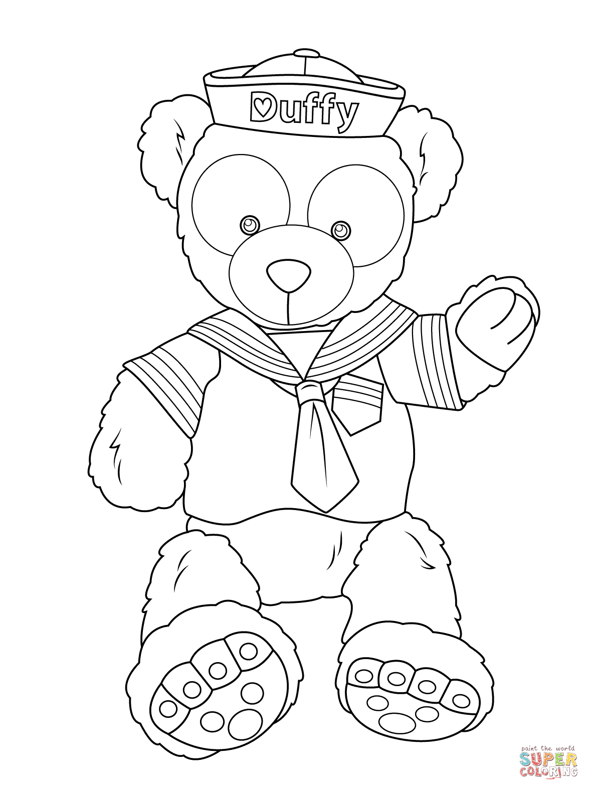1175x1575 Duffy The Disney Bear Coloring Page Free Printable Coloring
