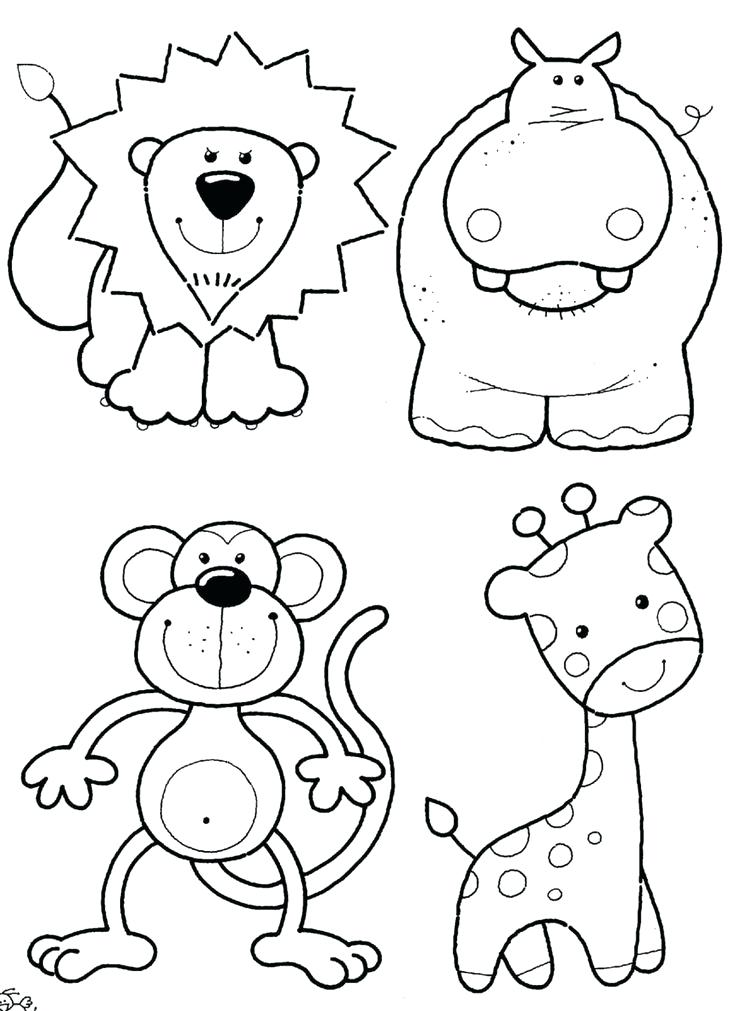 736x1011 Real Animal Coloring Pages