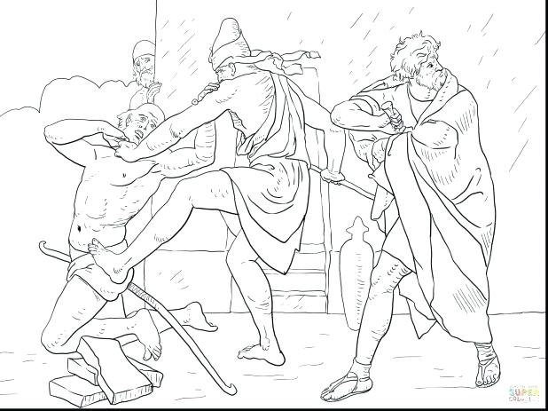618x463 Moses And The Burning Bush Coloring Page Also Amazing Kills