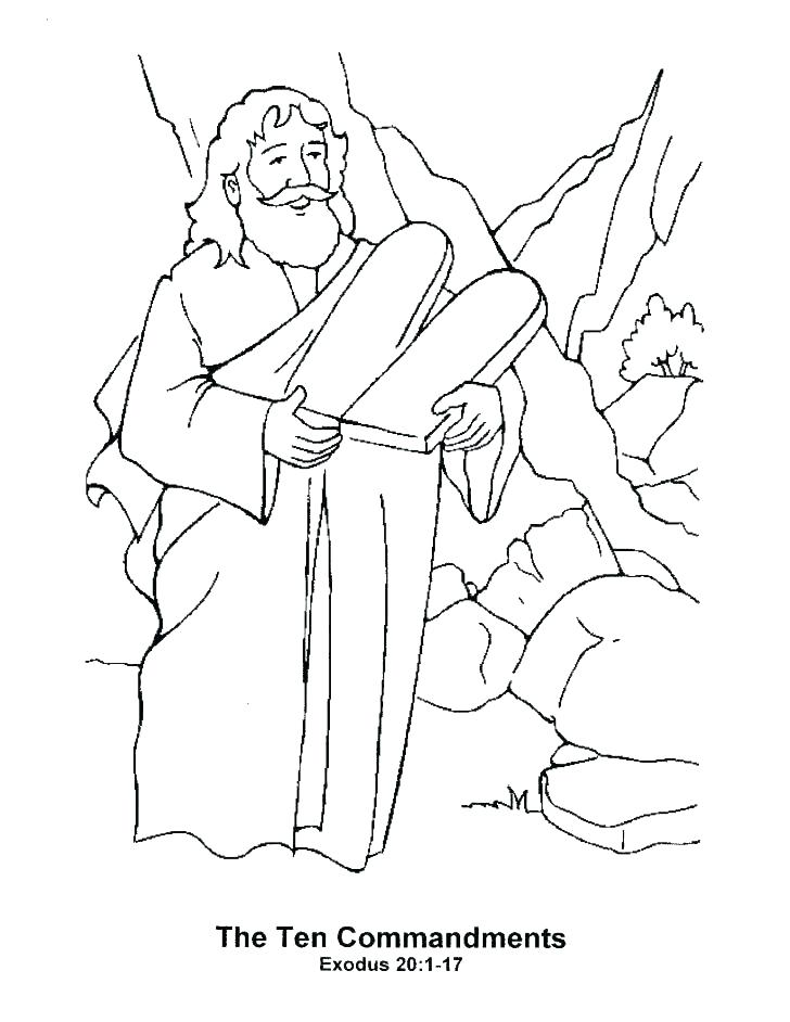 728x942 Moses Burning Bush Coloring Page Coloring Pages Coloring Pages