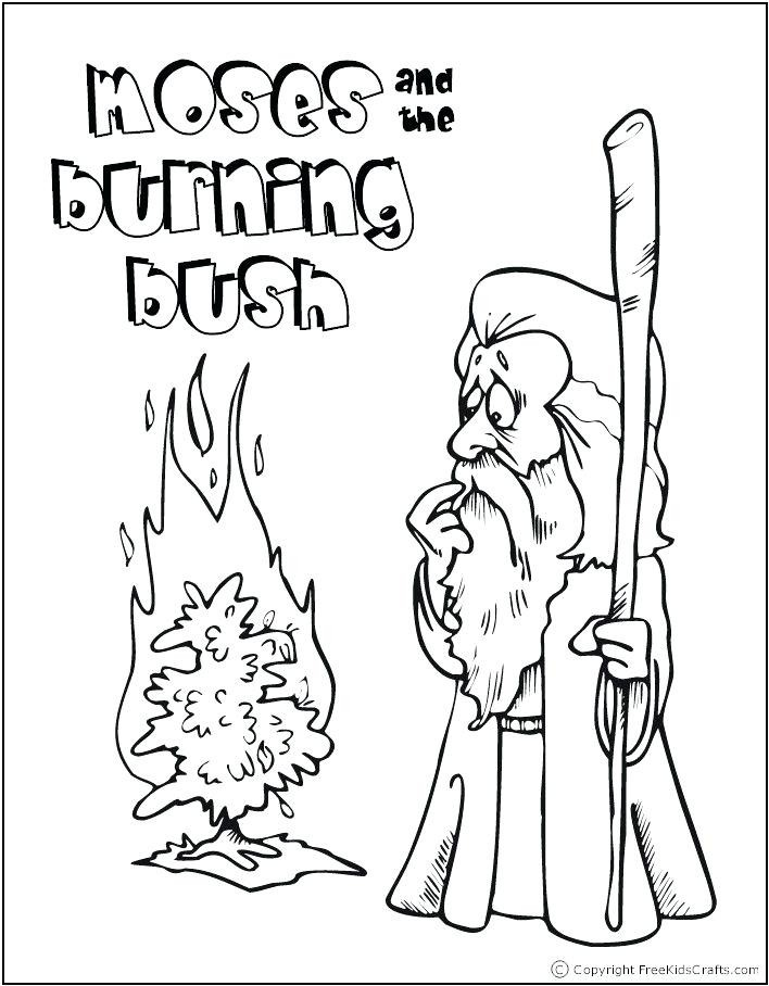 708x908 Moses And The Burning Bush Free Coloring Pages Coloring Page