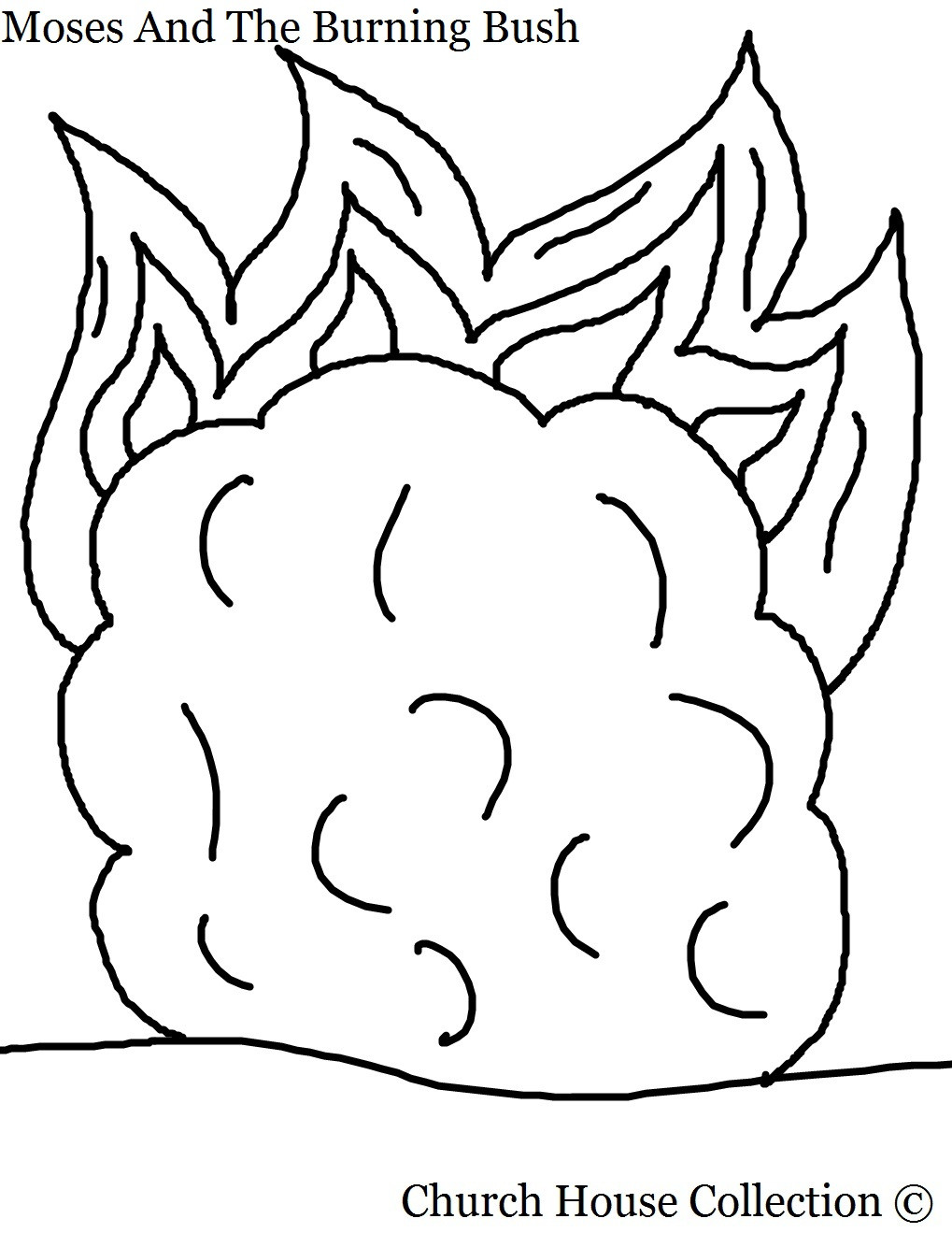 1019x1319 Top Moses And The Burning Bush Coloring Page N Unknown