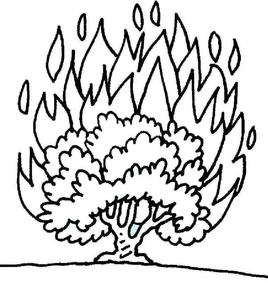 871x919 Burning Bush Coloring Page Printable Coloring Pages Church
