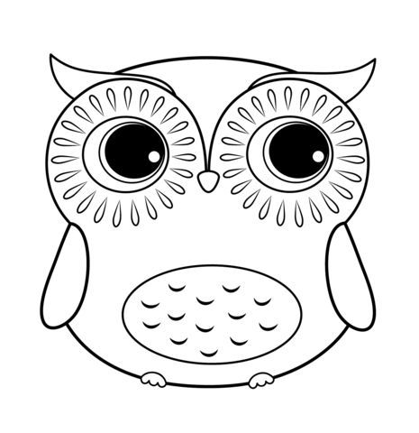 465x480 Coloring Pages Of Owls