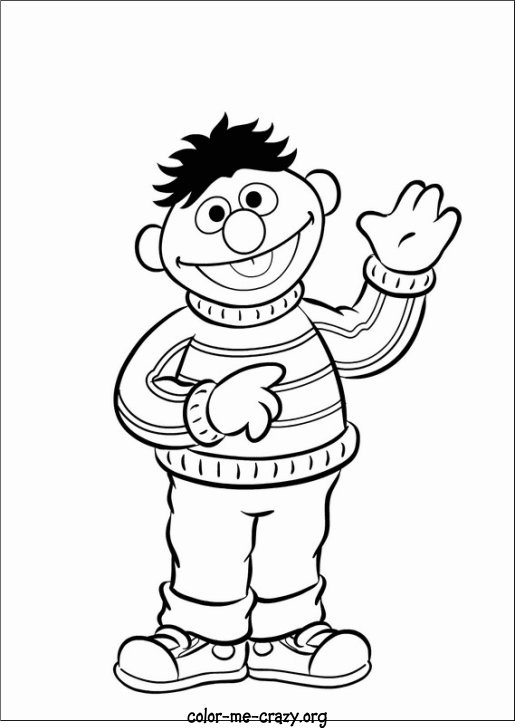 Burt And Ernie Coloring Pages At Getdrawings Com Free