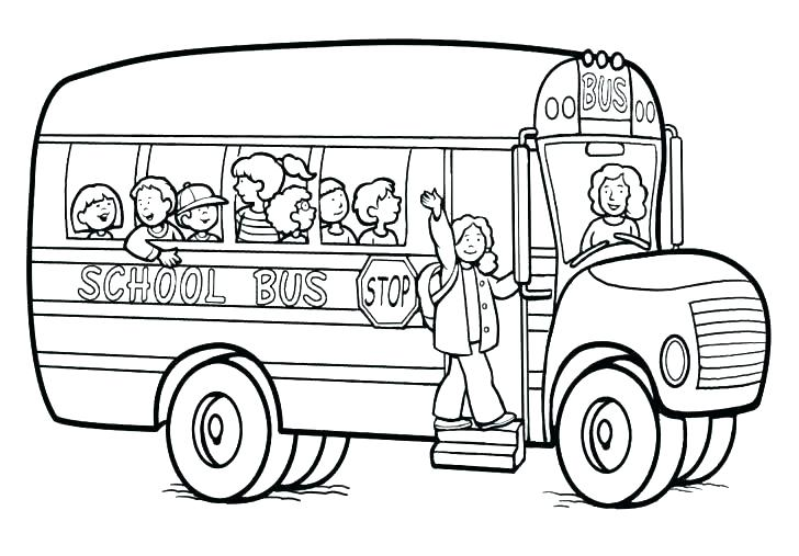 728x507 School Bus Coloring Page Coloring Pages School Bus Bus Safety