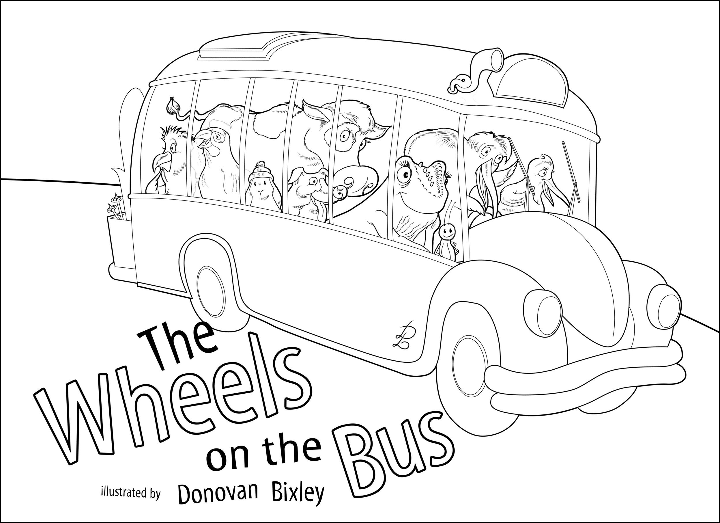 2495x1811 Luxury Wheels On The Bus Coloring Page Image Pages Search Results