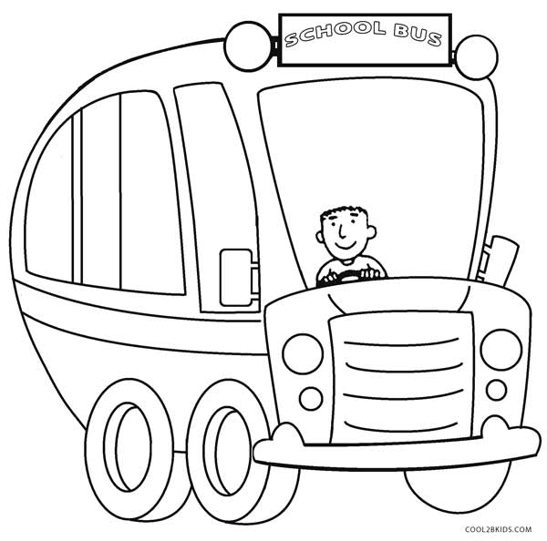 600x594 Printable School Bus Coloring Page For Kids