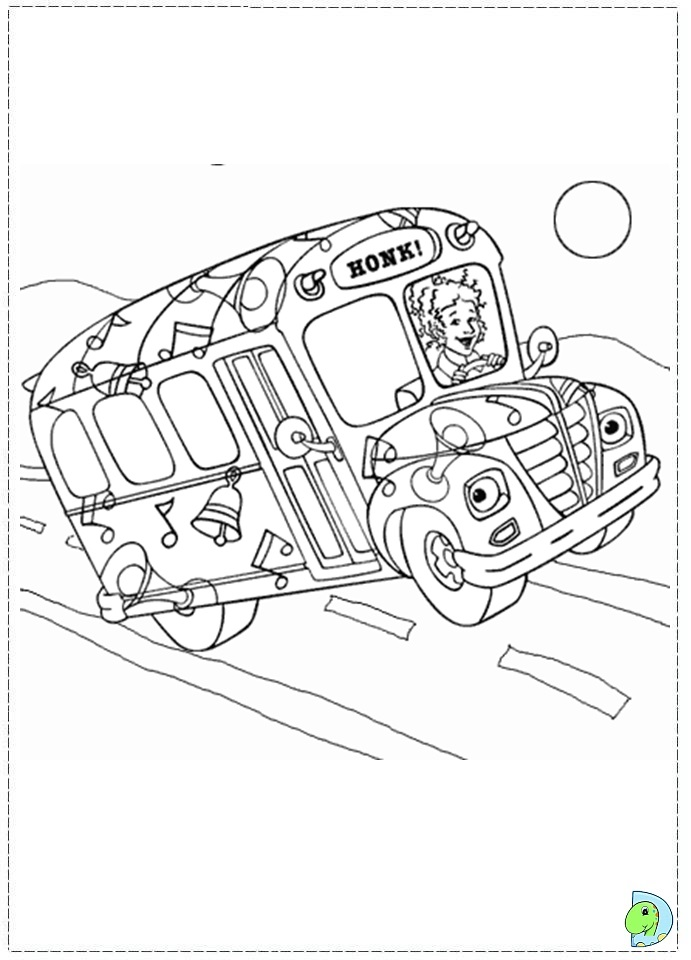 691x960 The Magic School Bus Coloring Pages With Girl Driver To Print Also
