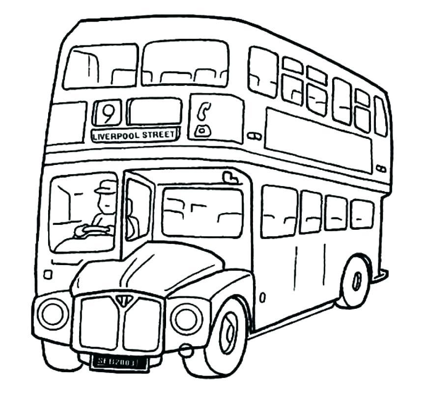 863x823 Bus Coloring Pages School Bus Coloring Pages Public Page