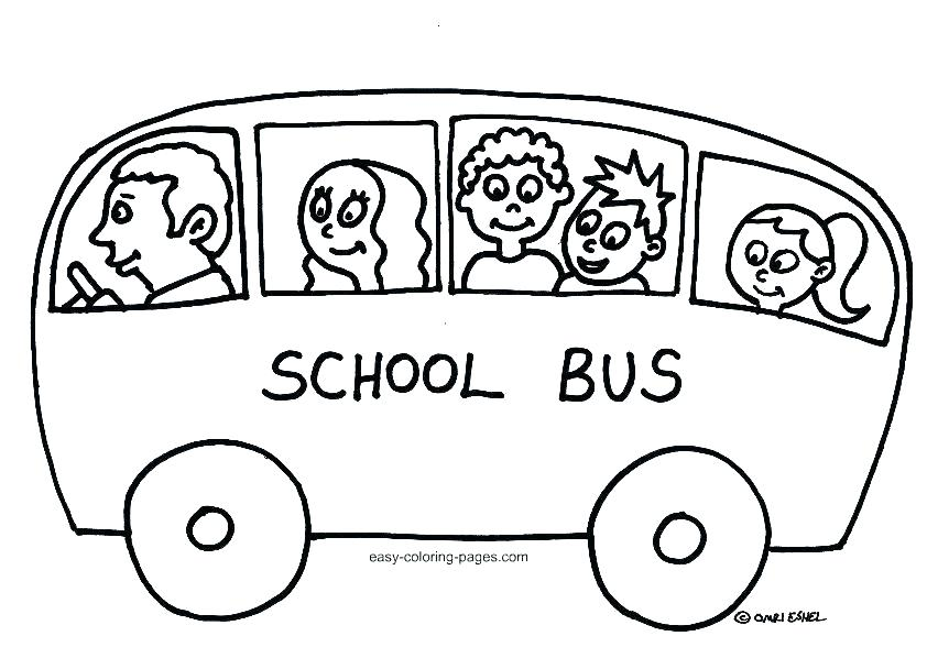 842x598 Coloring Pages Bus