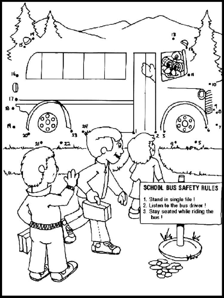 750x1000 Bus Driver Coloring Page