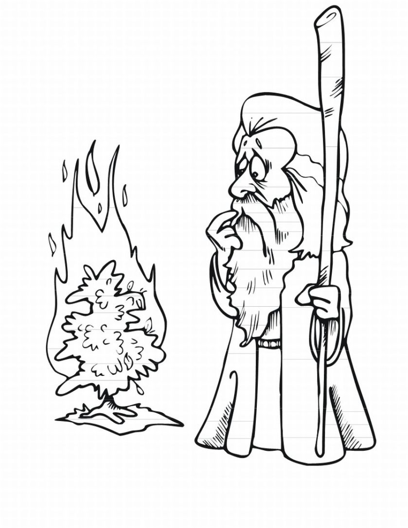 839x1086 Edge Moses And The Burning Bush Coloring Pages