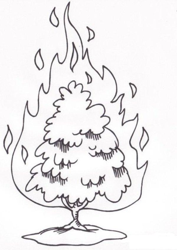 600x849 Moses And The Burning Bush Coloring Page