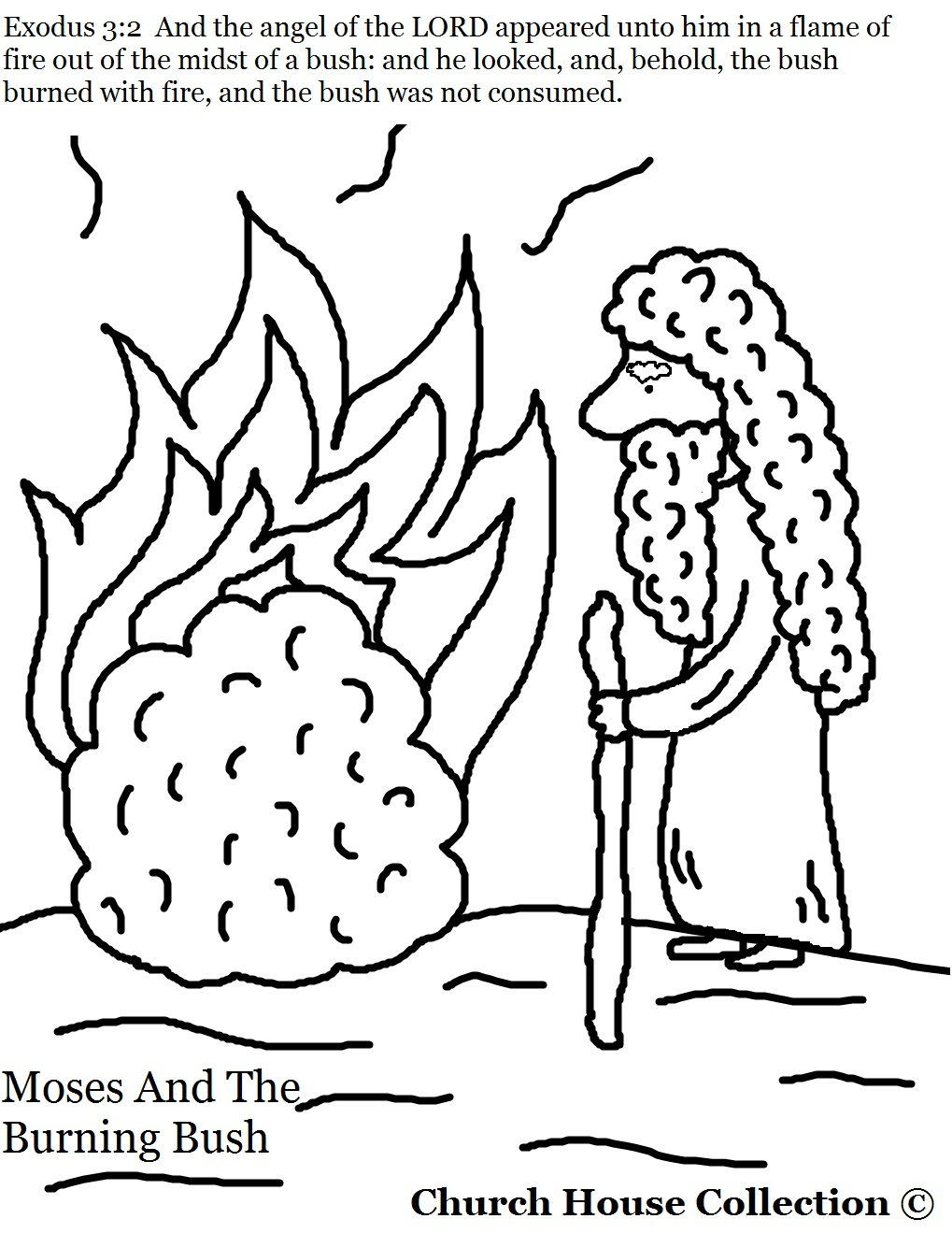 1019x1319 Moses And The Burning Bush Coloring Pages Page Noticeable