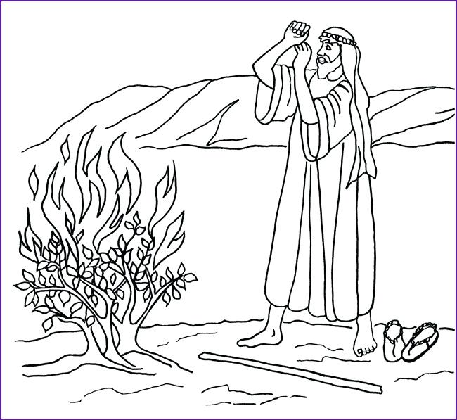 650x597 Moses Burning Bush Coloring Pages Printable And Page Grandma Free