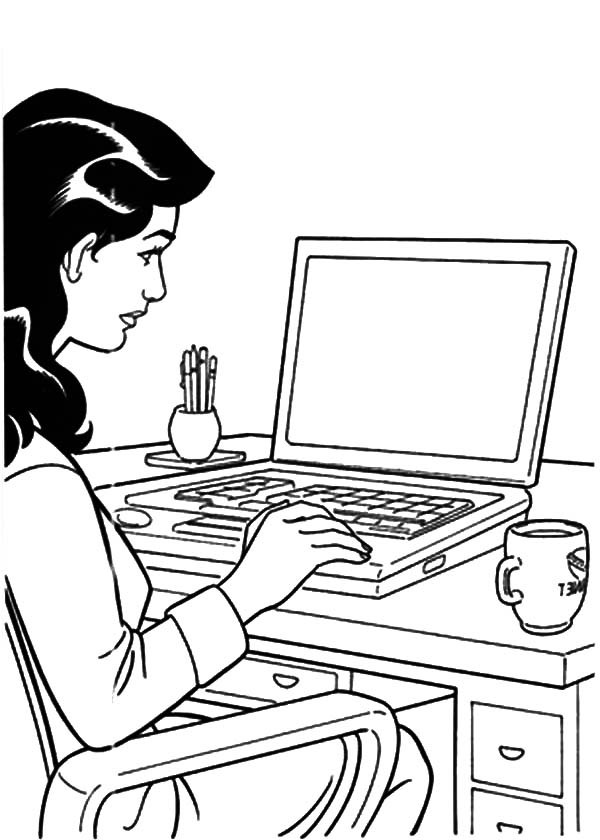 600x840 Girl Is Working Her Business Coloring Pages Best Place To Color