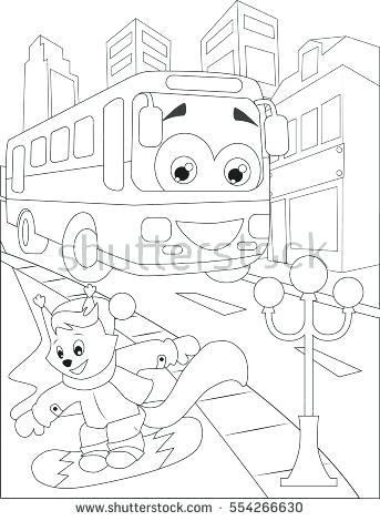343x470 Coloring Page Bus Coloring Pages School Bus Coloring Page Bush