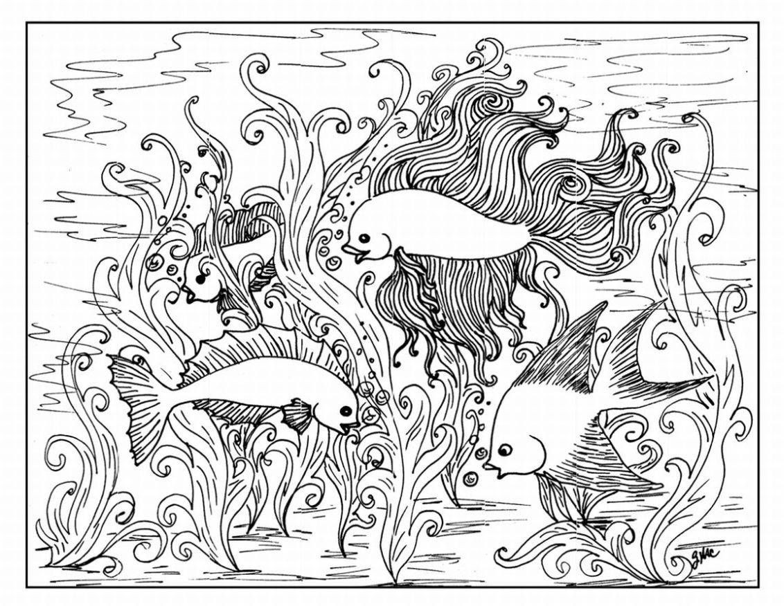1132x876 Crazy Busy Coloring Pages For Adults Adult Unusual Ocean