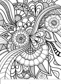 236x324 Flowers Abstract Coloring Pages Colouring Adult Detailed Advanced