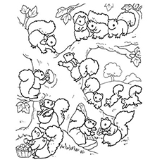 230x230 Top Free Printable Squirrel Coloring Pages Online