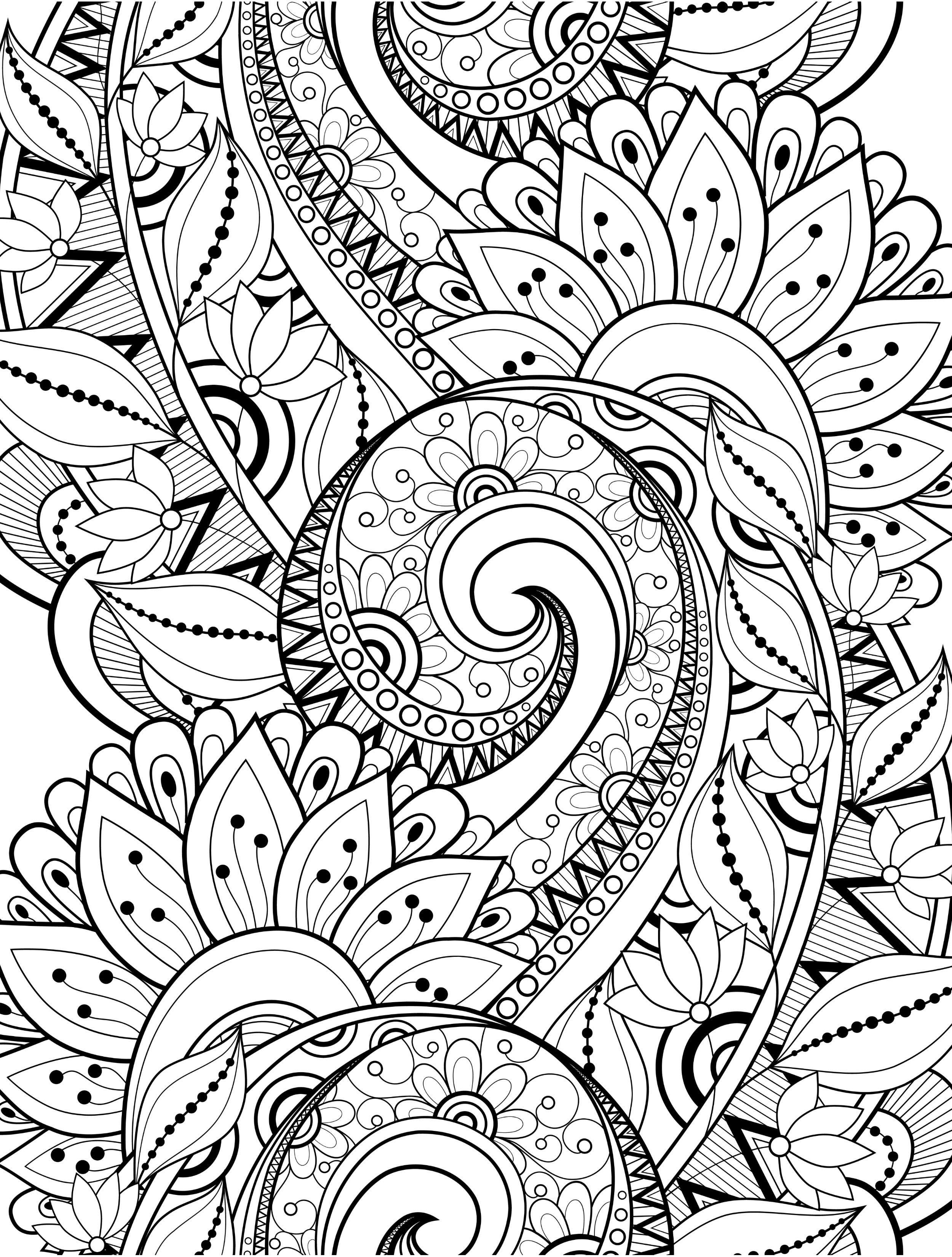 2500x3300 Busy Coloring Pages To Help Adults Relax Upload Abigail