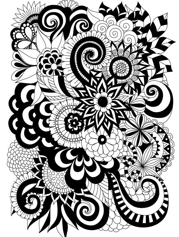 700x924 Easy Adult Coloring Page Free Upload Art