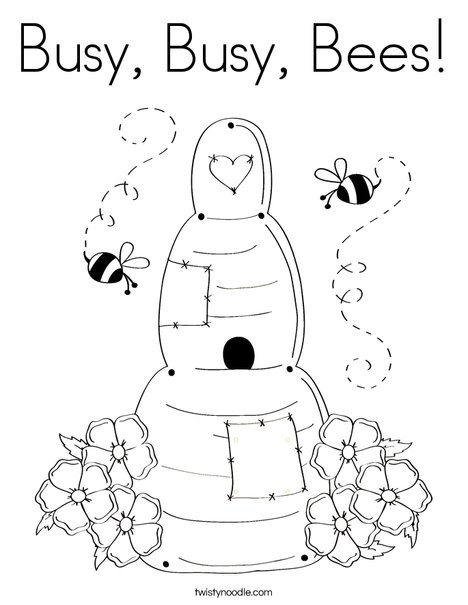 468x605 Busy, Busy, Bees Coloring Page