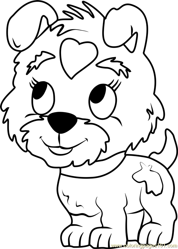 574x800 Pound Puppies Buttercup Coloring Page