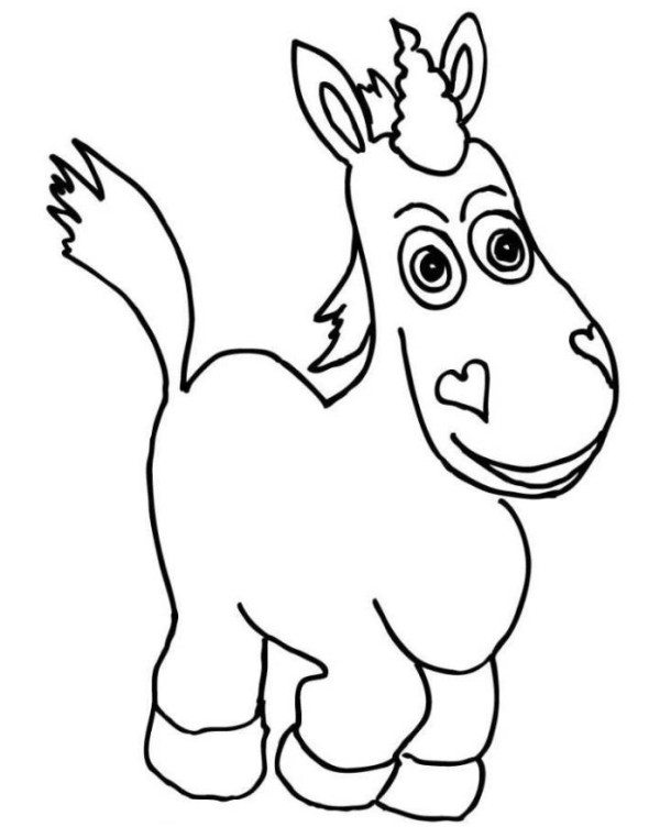 600x752 Toy Story Buttercup Coloring Pages